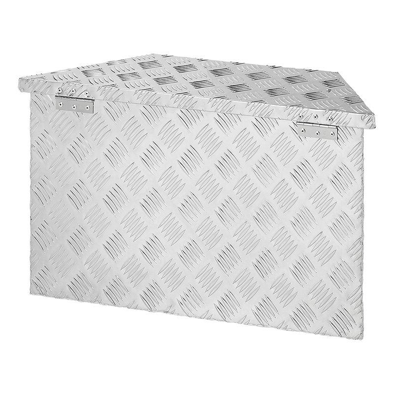 caja de almacenamiento para remolque y cami/ón con 2 llaves Caja de herramientas de aluminio de 24 pulgadas